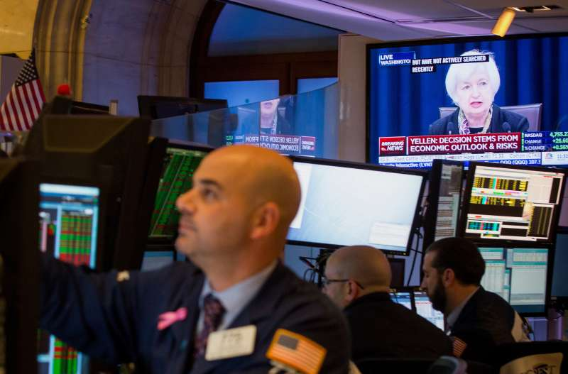 Trading On The Floor Of The NYSE As FOMC Releases Decision