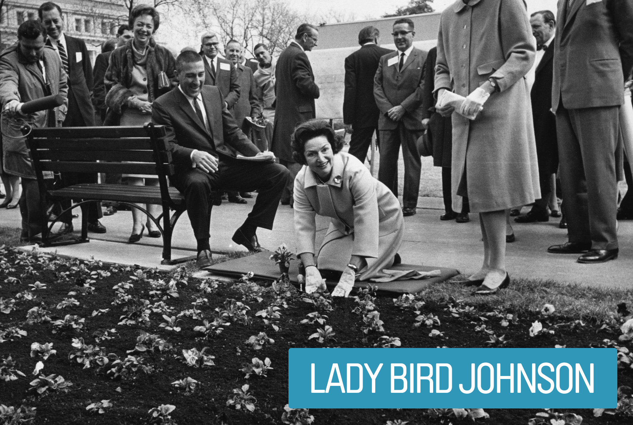 """Lady Bird Johnson's focus was her """"Beautification"""" initiative. The effort included urban landscaping and development of the mall in the nation's capitol, preservation and conservation efforts in the national parks, anti-pollution campaigns and  environmental legislation."""