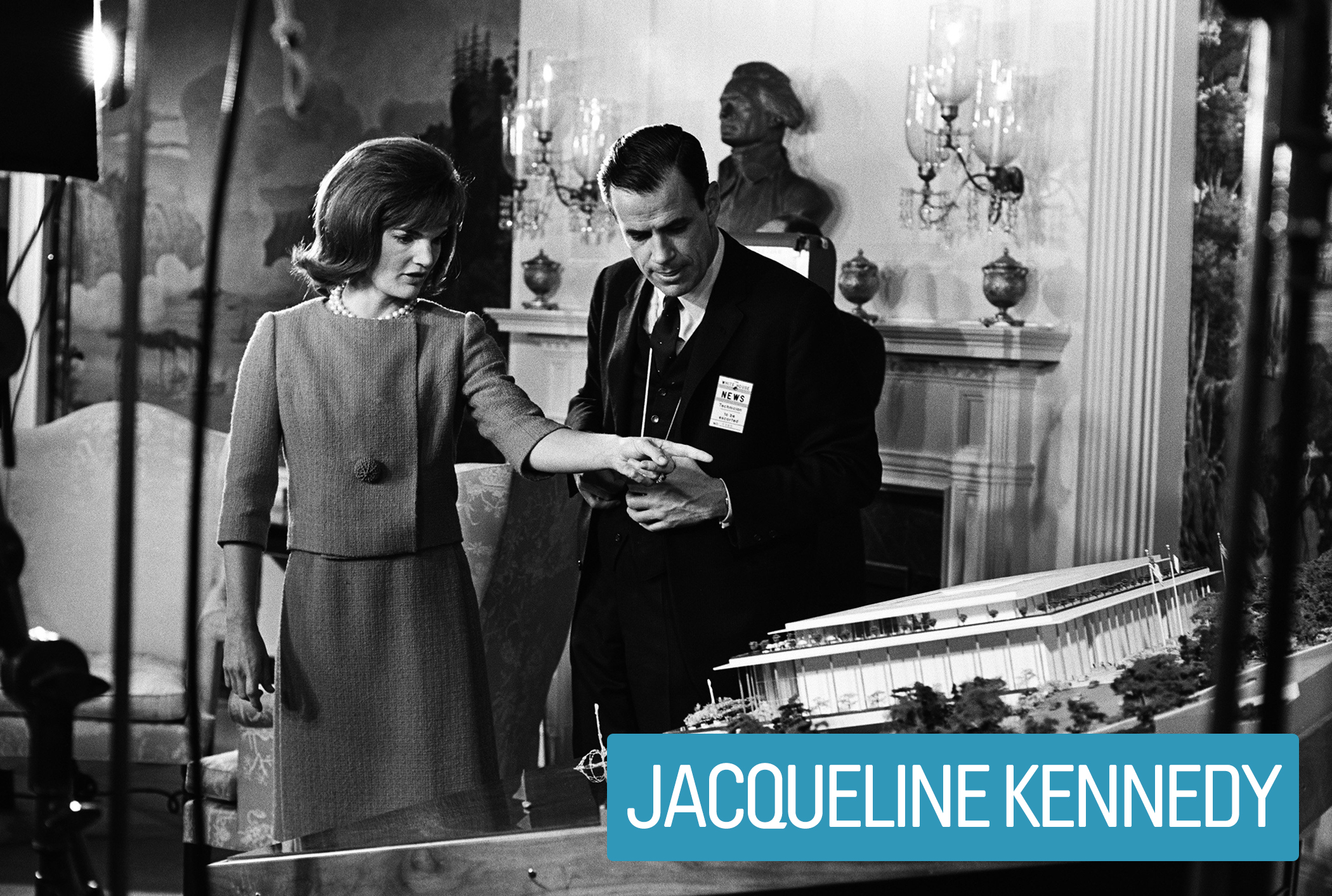 After restoring and redecorating The White House, Jacqueline Kennedy hosted showcases of art, music and dance performances there—even securing The Mona Lisa on loan from France.                                           She was ultimately responsible for the creation of the National Culture Center (shown)—later renamed after JFK—in Washington, D.C.