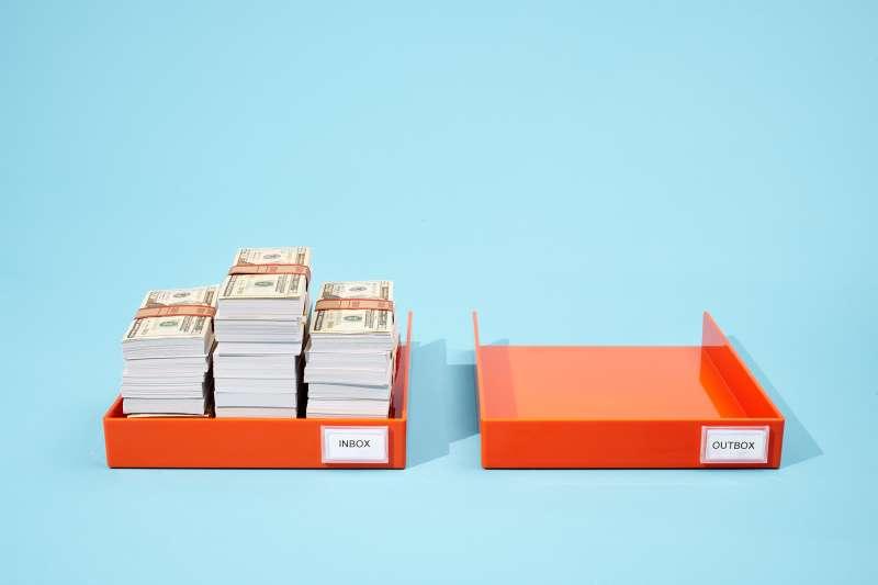 Inbox of cash