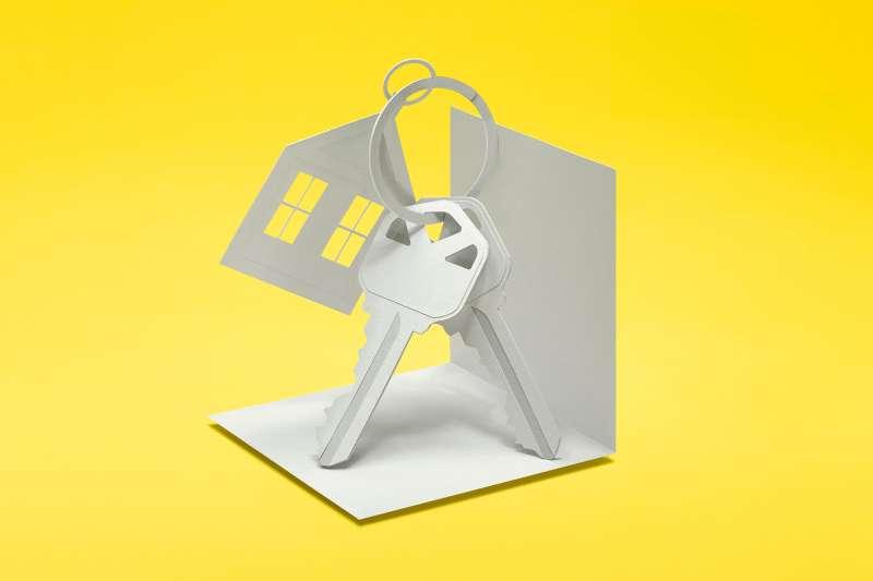 paper sculpture of house keys