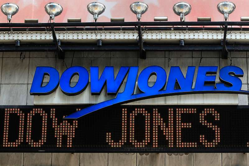 The Dow Jones financial electronic ticker is seen at Times Square in New York July 17, 2012.