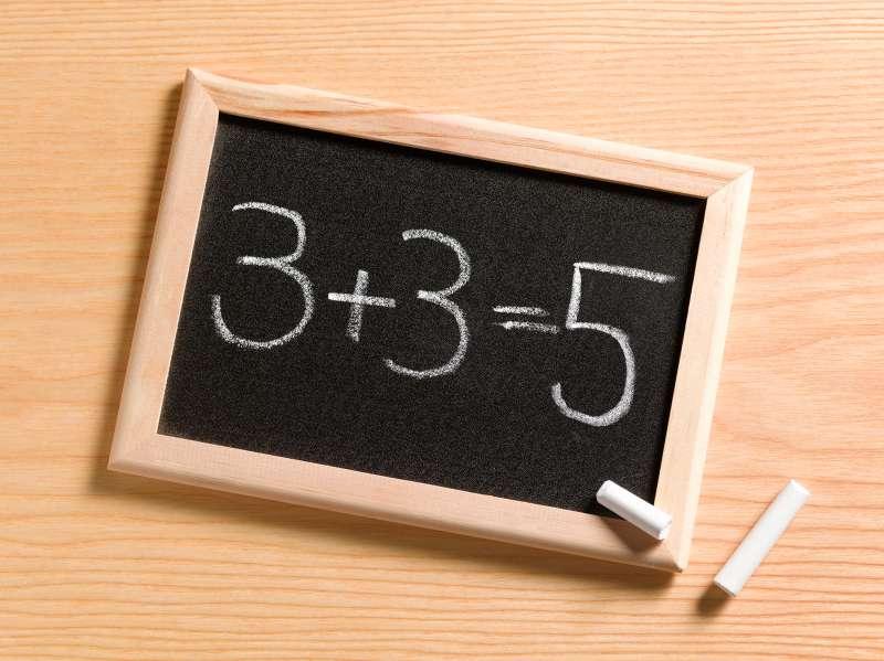 mathematics mistake on chalkboard