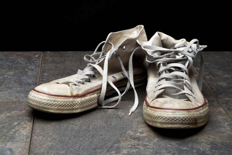 worn Converse shoes