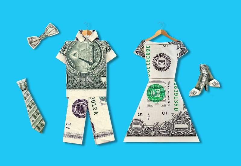origami clothing made from money