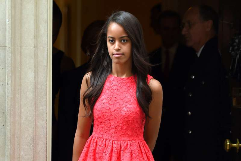 Malia Obama departs after her visit of 10 Downing Street on June 16, 2015 in London, England.