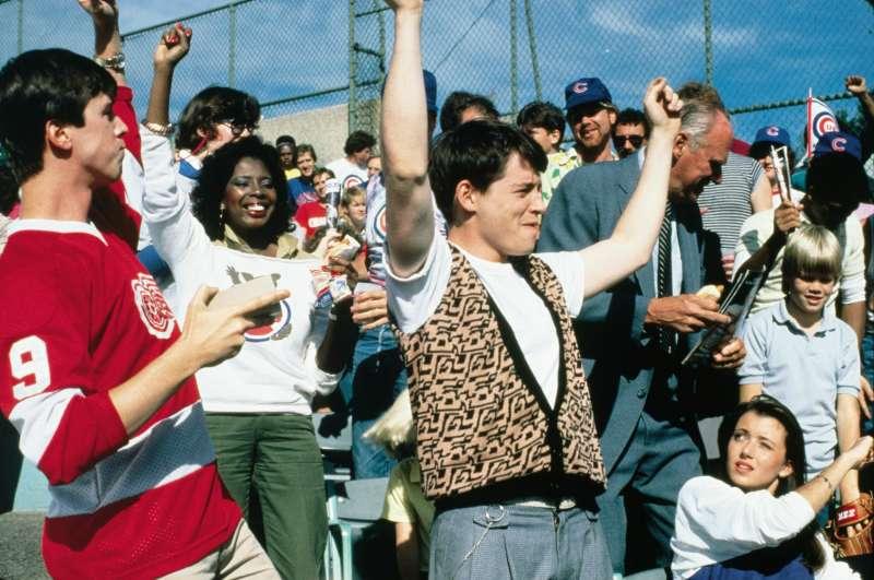 Alan Ruck, Matthew Broderick and Mia Sara in FERRIS BUELLER'S DAY OFF (1986)