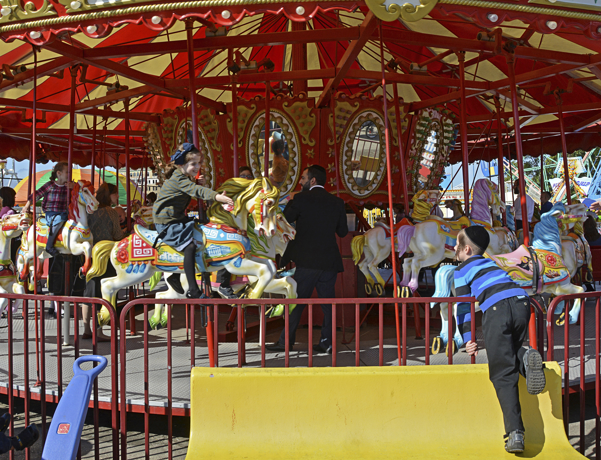 The carousel at Luna Park in Coney Island, Brooklyn, New York