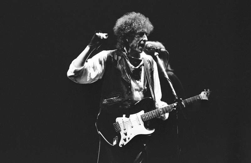 """Bob Dylan opened his """"True Confessions Tour"""" in the San Diego Sports Arena on Monday, June 10, 1986 to a sellout crowd of about 17,000."""