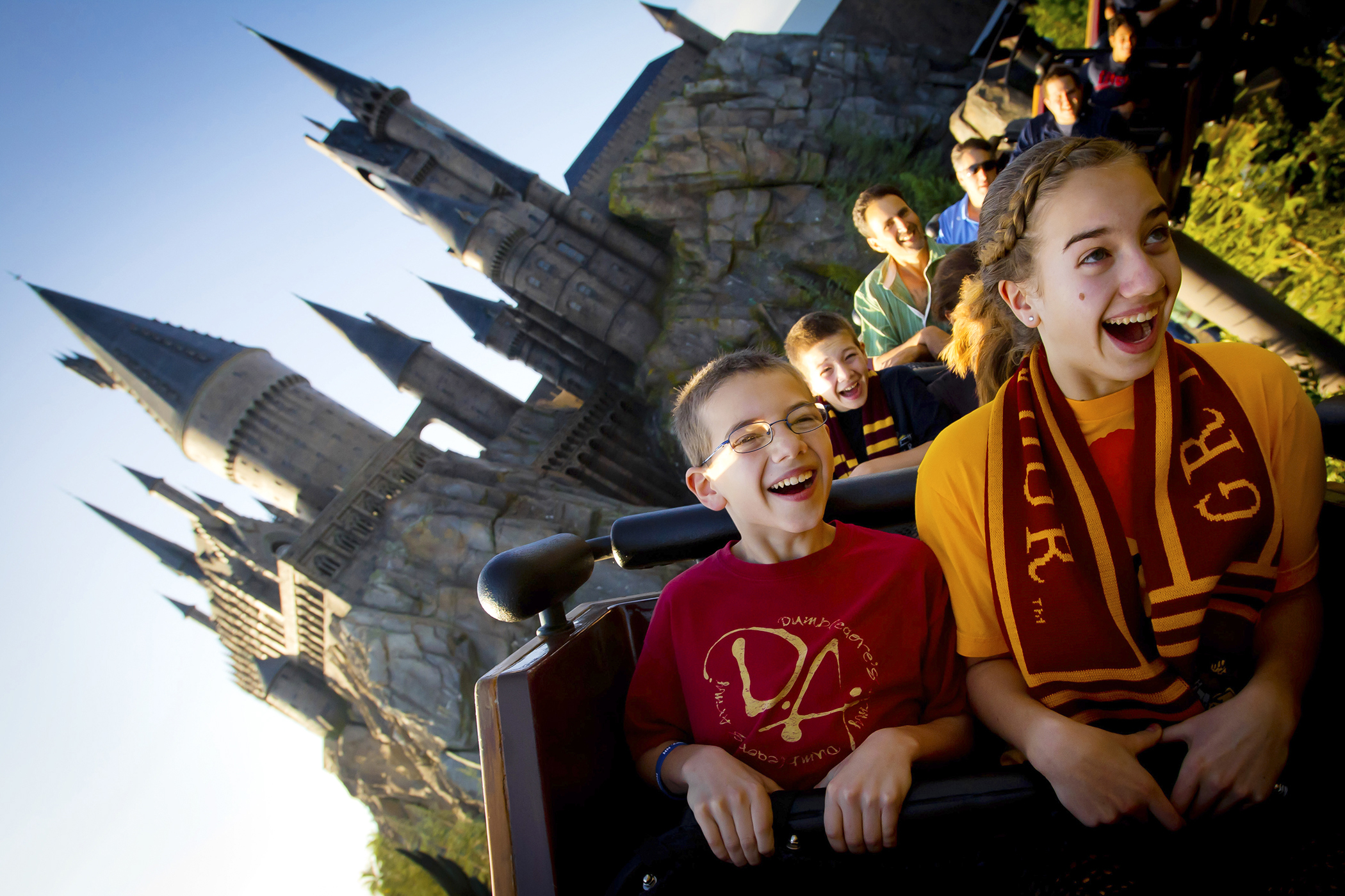 On Flight of the Hippogriff at The Wizarding World of Harry Potter