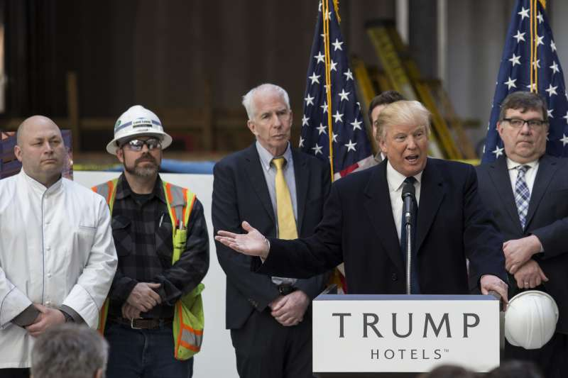 Presidential Candidate Donald Trump Holds Media Tour At The Soon To Be Trump International Hotel