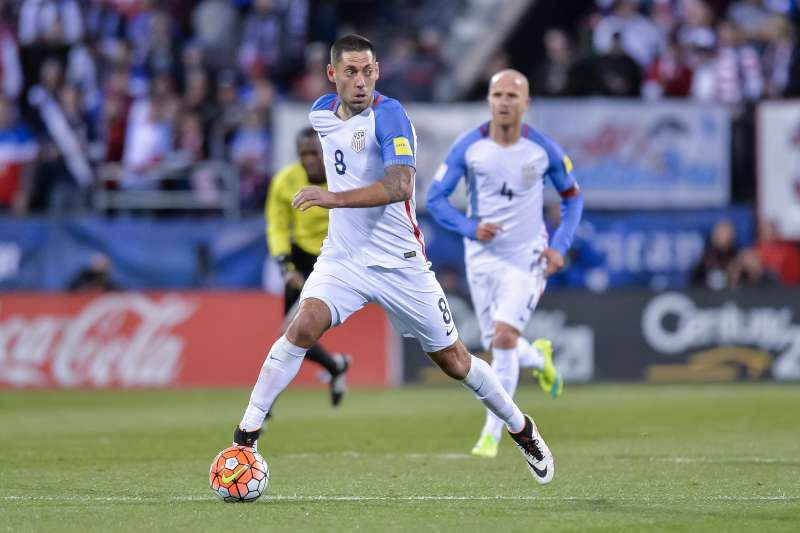 Clint Dempsey #8 of the United States Men's National Team controls the ball against Guatemala during the FIFA 2018  World Cup qualifier on March 29, 2016 at MAPFRE Stadium in Columbus, Ohio. The United States defeated Guatemala 4-0.