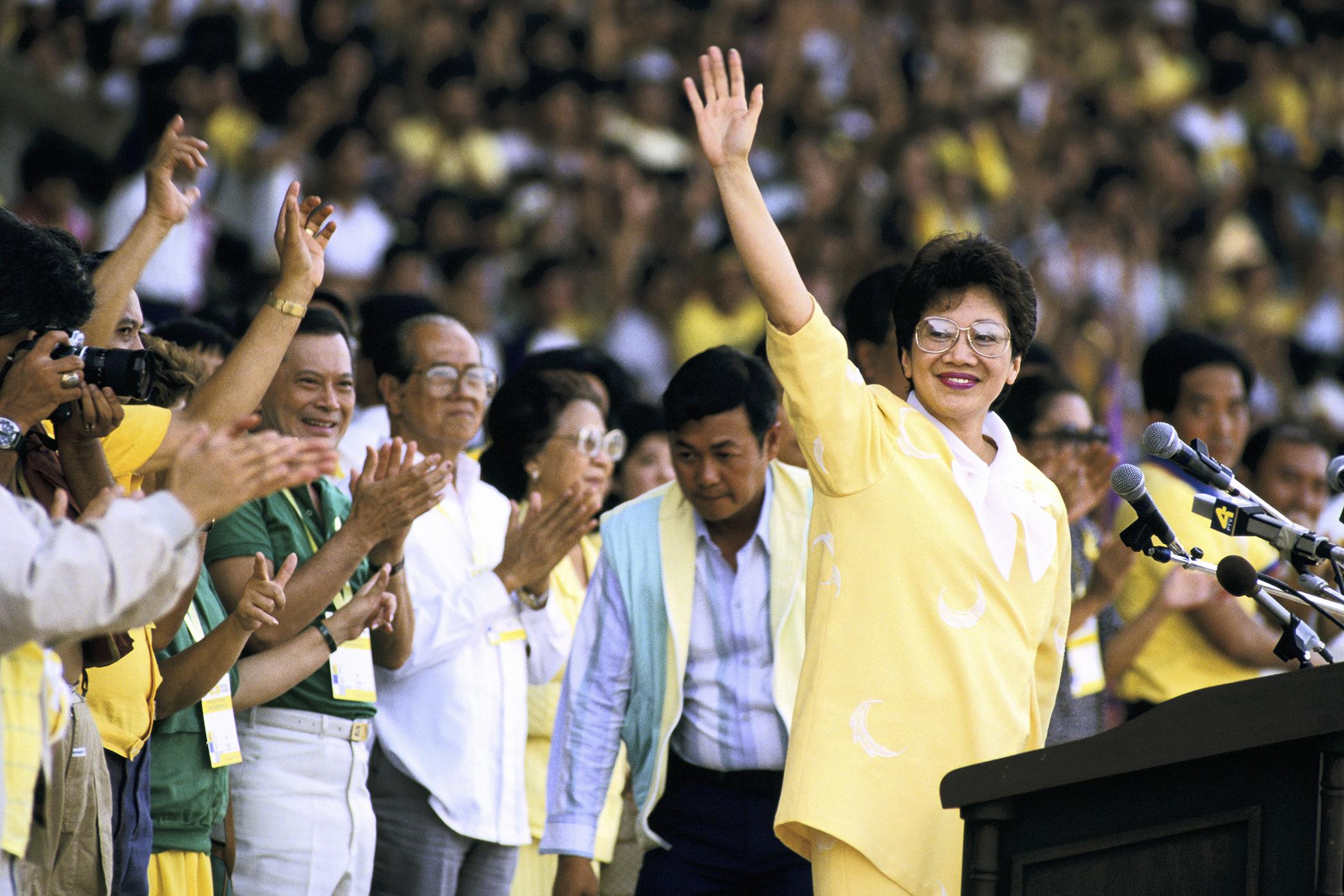 Cory Aquino in Manila, Philippines on January 31st , 1987.