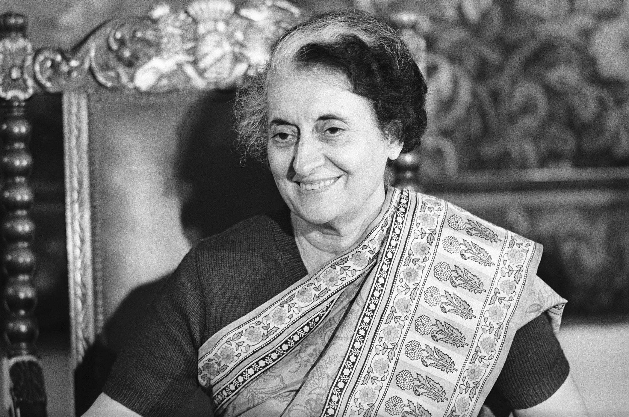 Indira Gandhi, Prime Minister of India, visiting Austria, Hotel Imperial in Vienna, 1983.