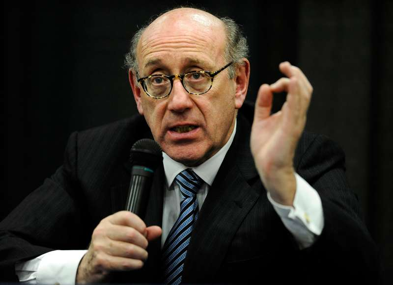 In this July 11, 2013 photo, attorney and special adviser Kenneth Feinberg speaks at a public forum on the distribution of Newtown donations at Edmond Town Hall in Newtown, Conn.