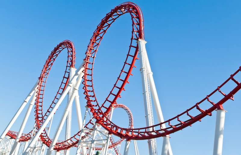 scary looping rollercoaster