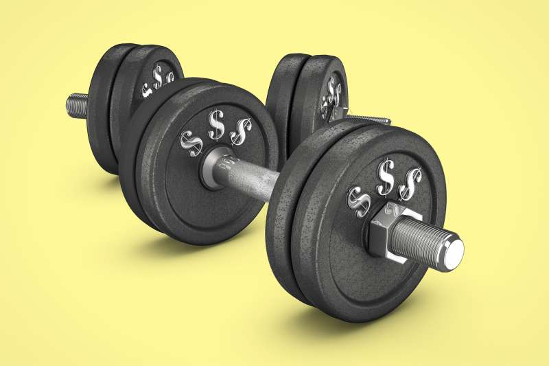 barbells with $$$ signs