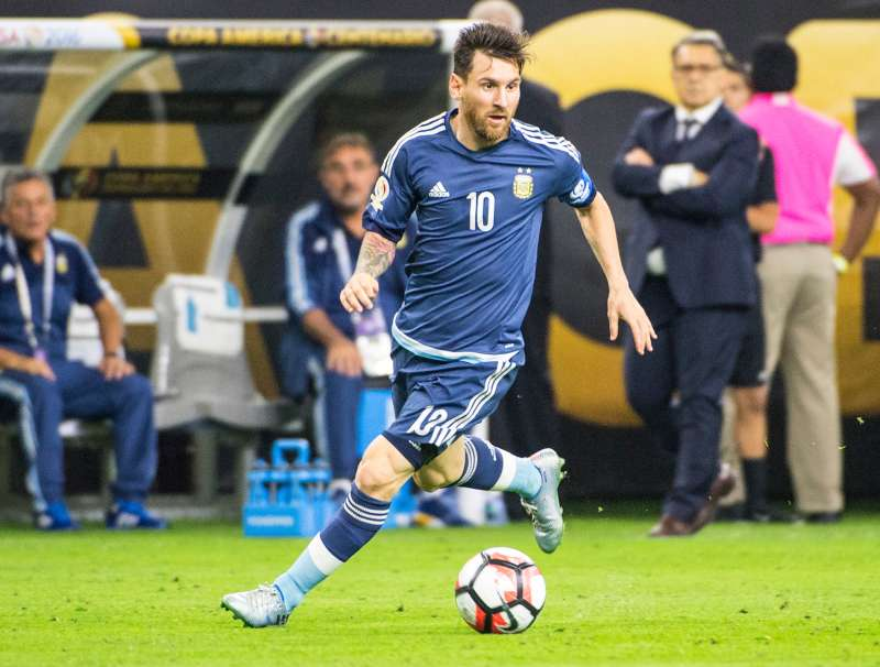 Lionel Messi #10 of Argentina during the Copa America Centenario Semifinal match between United States and Argentina at NRG Stadium on June 21, 2016 in Houston, Texas. Argentina won the match 4-0.