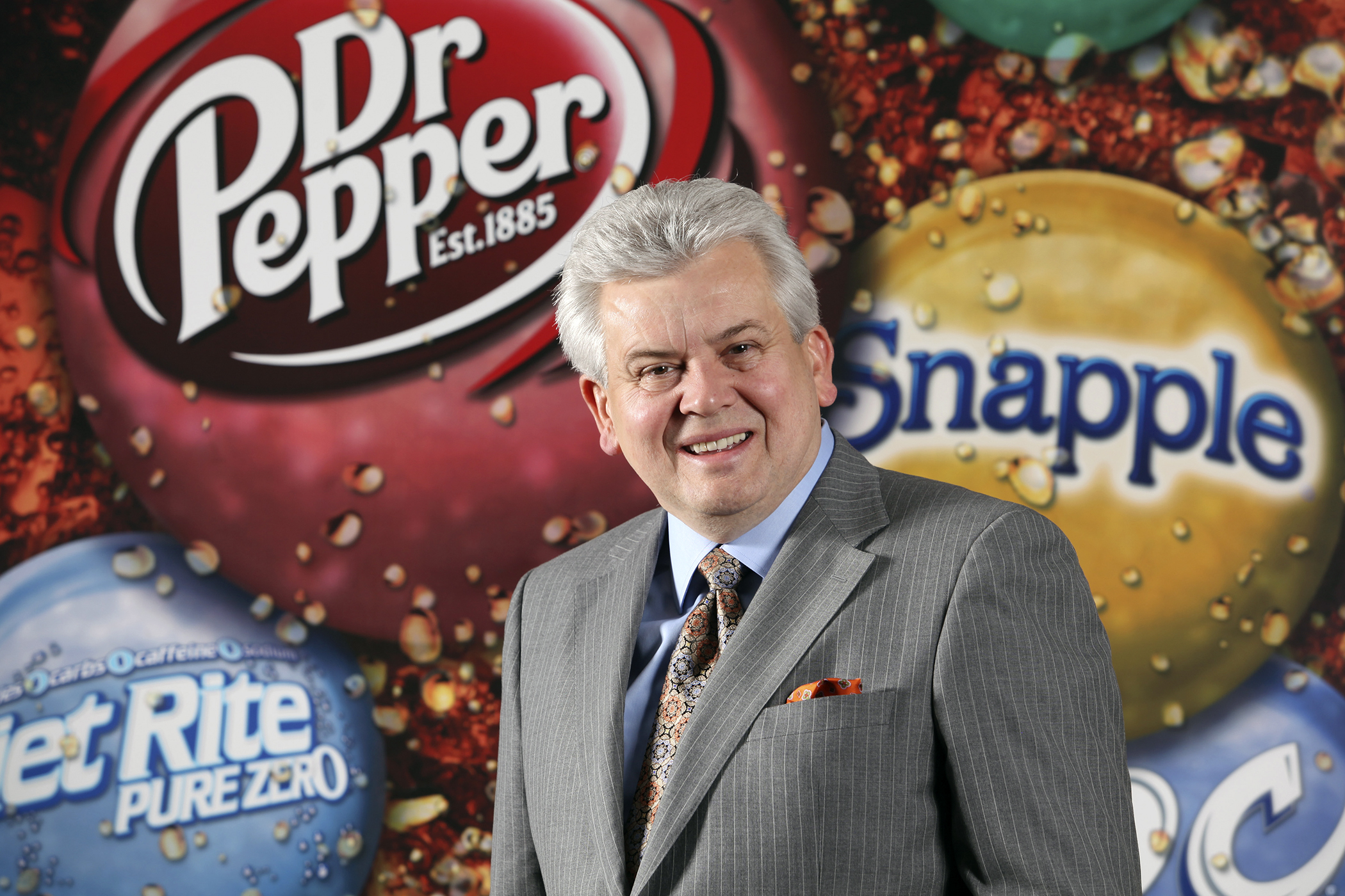 Larry Young, President and CEO of Dr Pepper Snapple Group, Inc., poses in the company's executive boardroom Thursday morning, Sept. 24, 2009, in Plano, Texas.