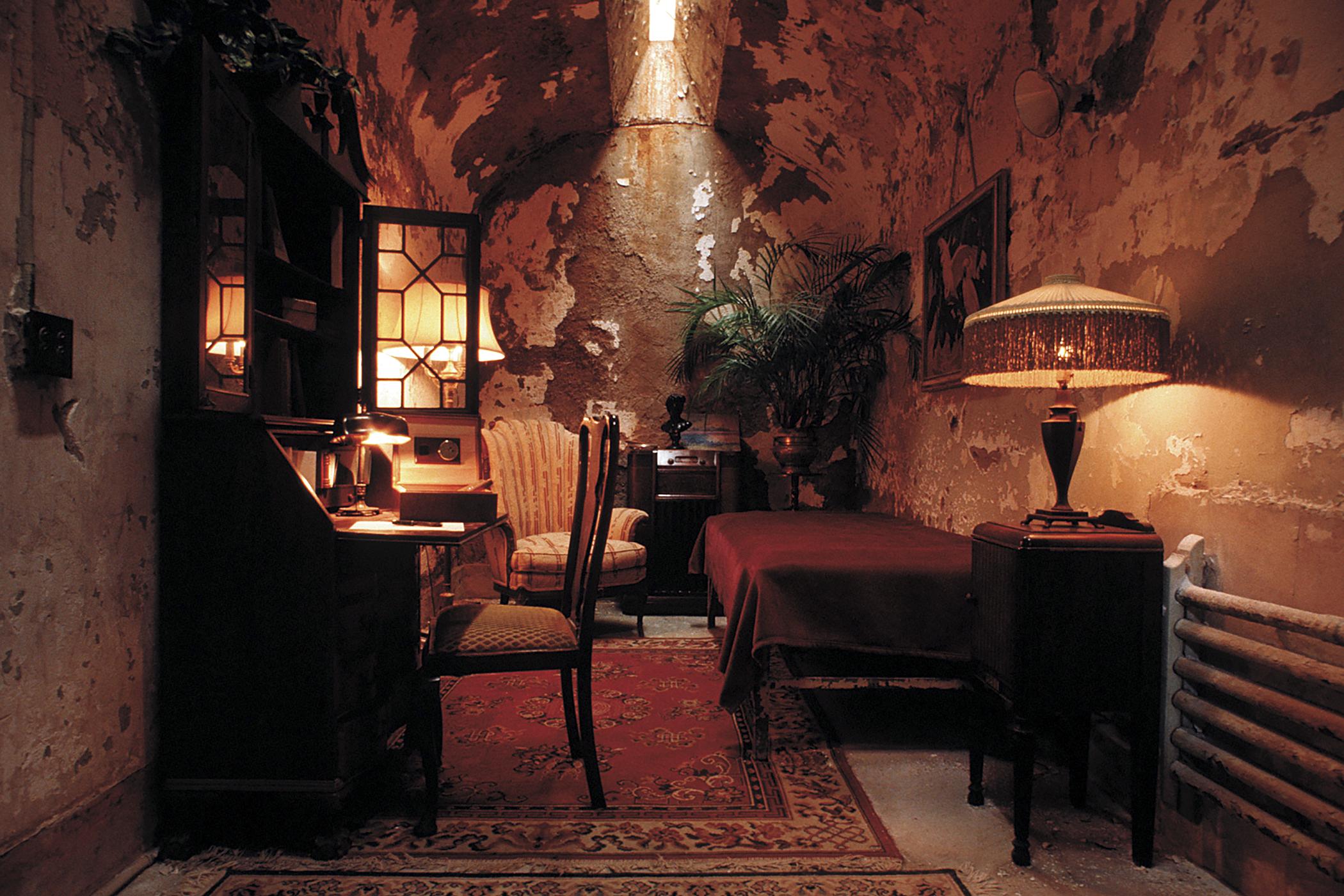 Al Capone's cell, Eastern State Penitentiary in Philadelphia, Pennsylvania