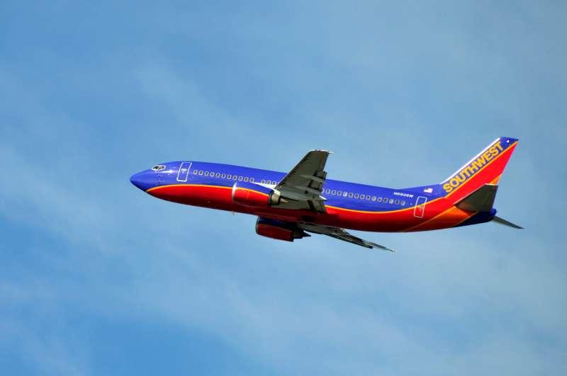Southwest jet aircraft departing, Orlando International Airport