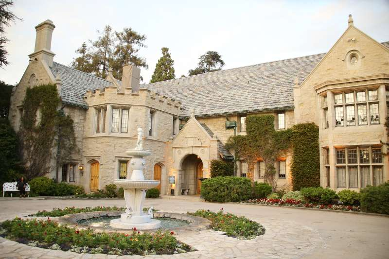 A general view of the Playboy Mansion at  The Transporter Refueled  Los Angeles screening held at The Playboy Mansion on August 25, 2015 in Los Angeles, California.