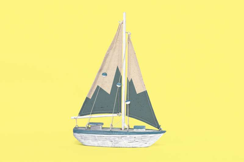sailboat with fever line on sail