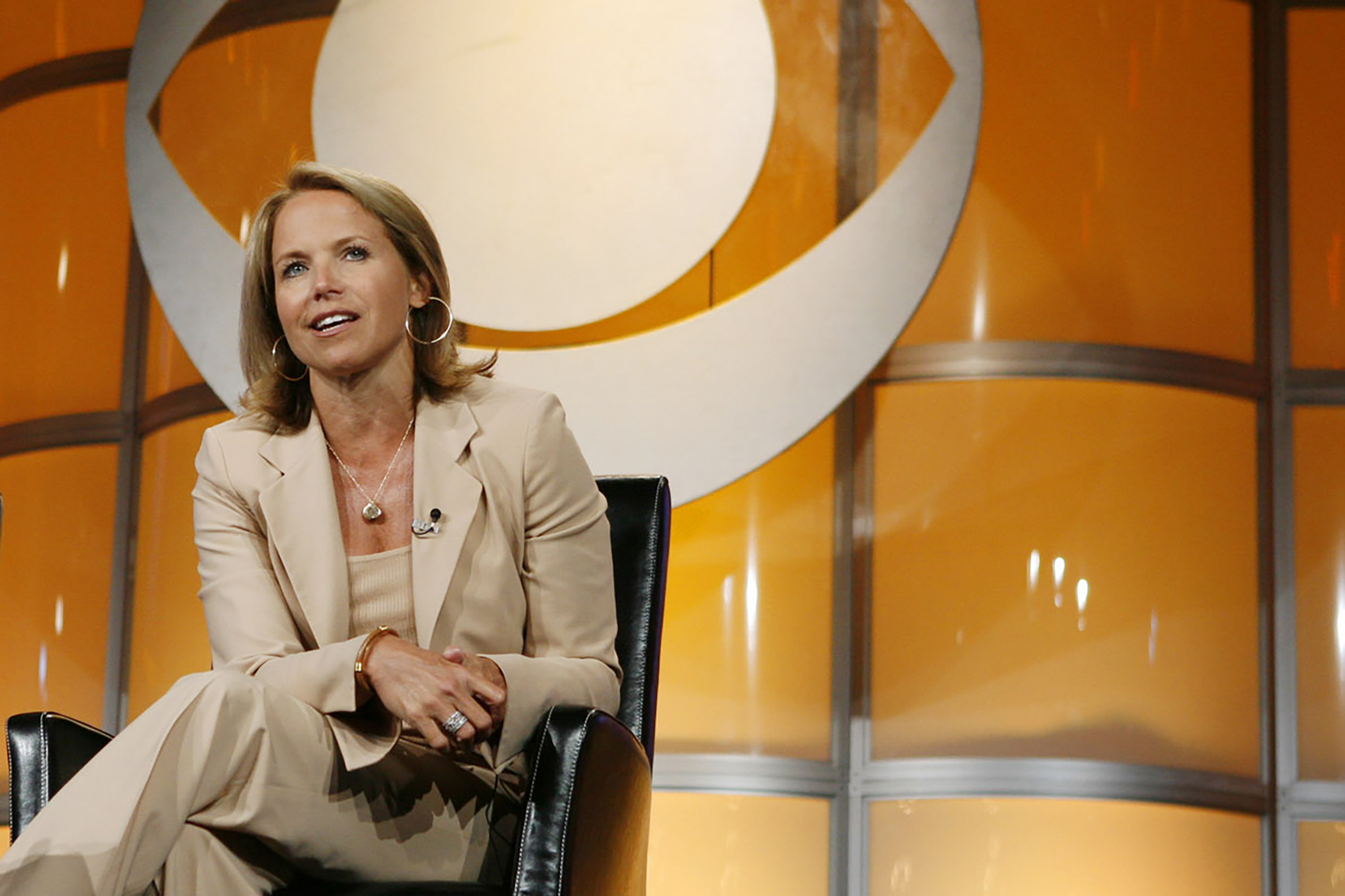 Katie Couric, CBS News anchor and correspondent, answers questions from members of the press about Couric's upcoming season of the  CBS Evening News with Katie Couric  in Pasadena, Calif., Sunday July 16, 2006.