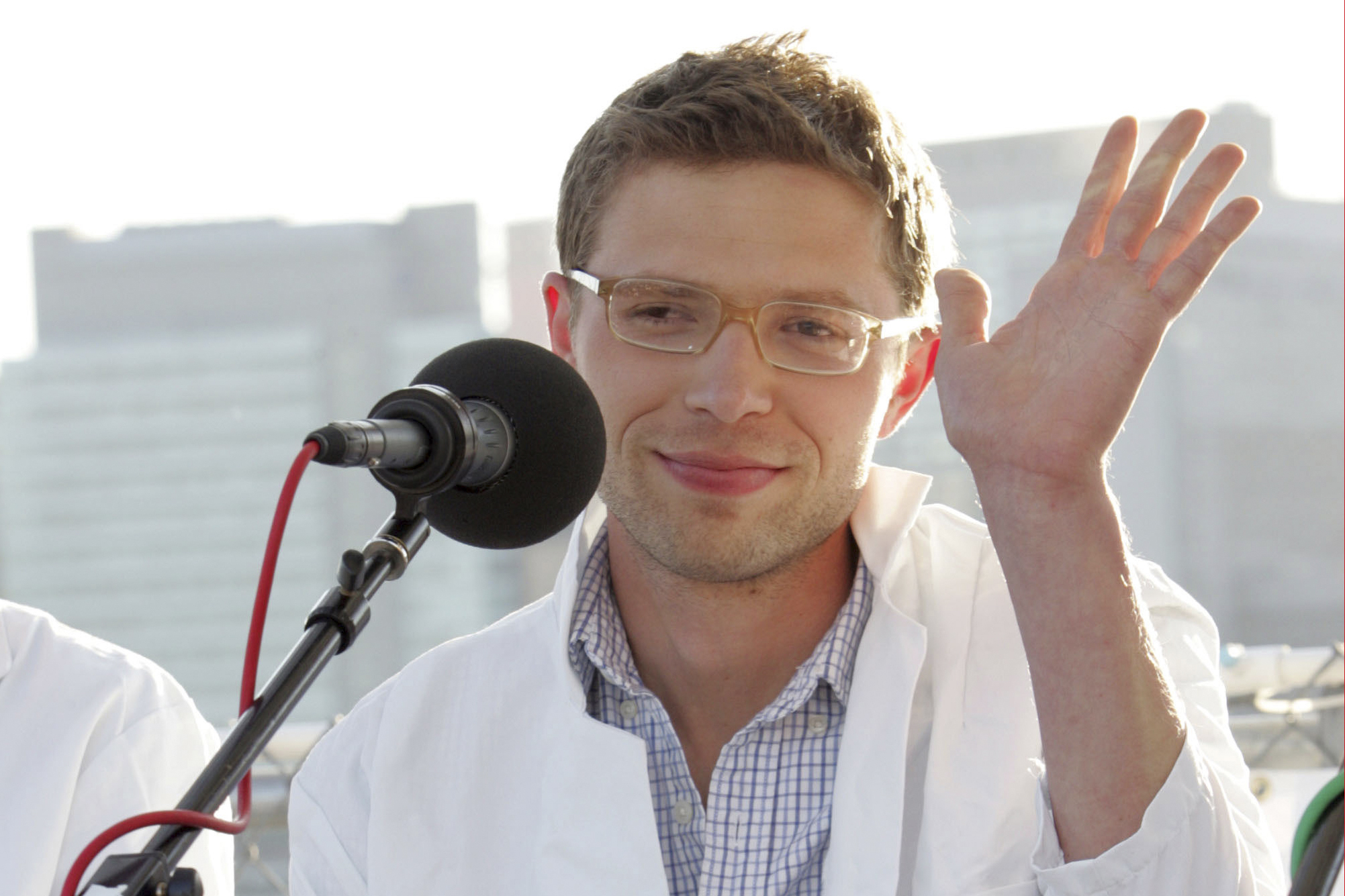 Science writer and contributer to Radio Lab, Jonah Lehrer attends the  You and Your Irrational Brain  panel discussion at Water Taxi Beach in Long Island City in conjunction with the World Science Festival on May 29, 2008 in New York City.