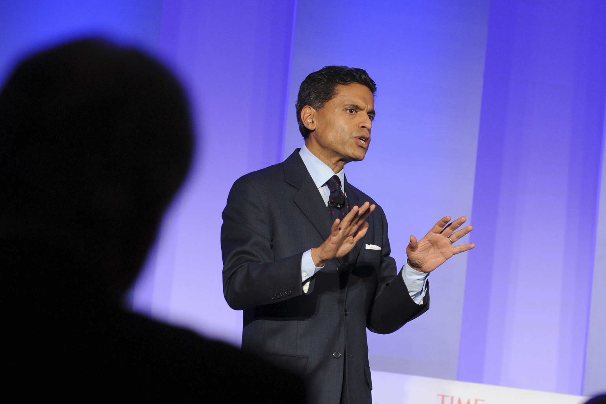 Fareed Zakaria speaks at the TIME Summit On Higher Education Day 1 at Time Warner Center on September 19, 2013 in New York City.