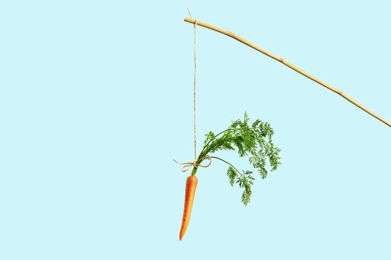 carrot on string