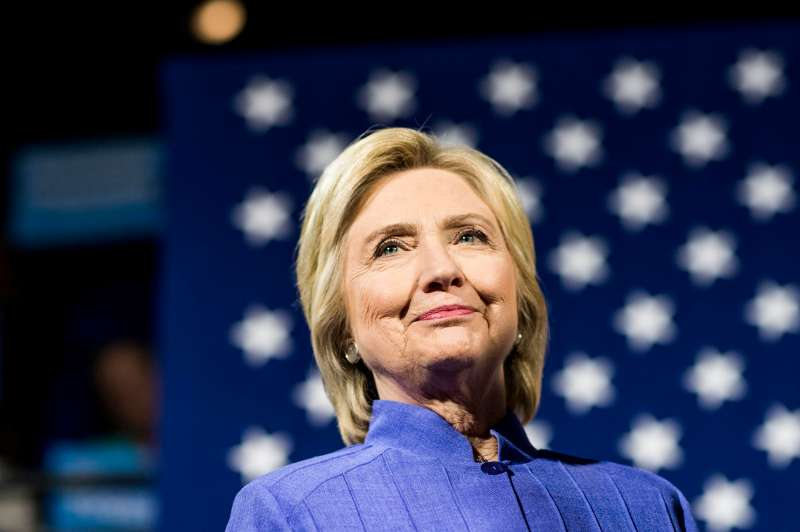 Democratic Presumptive Nominee for President former Secretary of State Hillary Clinton, along with Senator Sherrod Brown (D-OH), speak to campaign volunteers at a  get out the vote  event at University of Cincinnati in Cincinnati, Ohio on July 18, 2016.