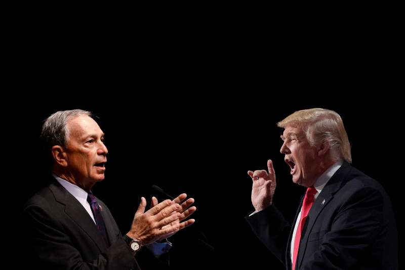 Michael Bloomberg facing off against Donald Trump