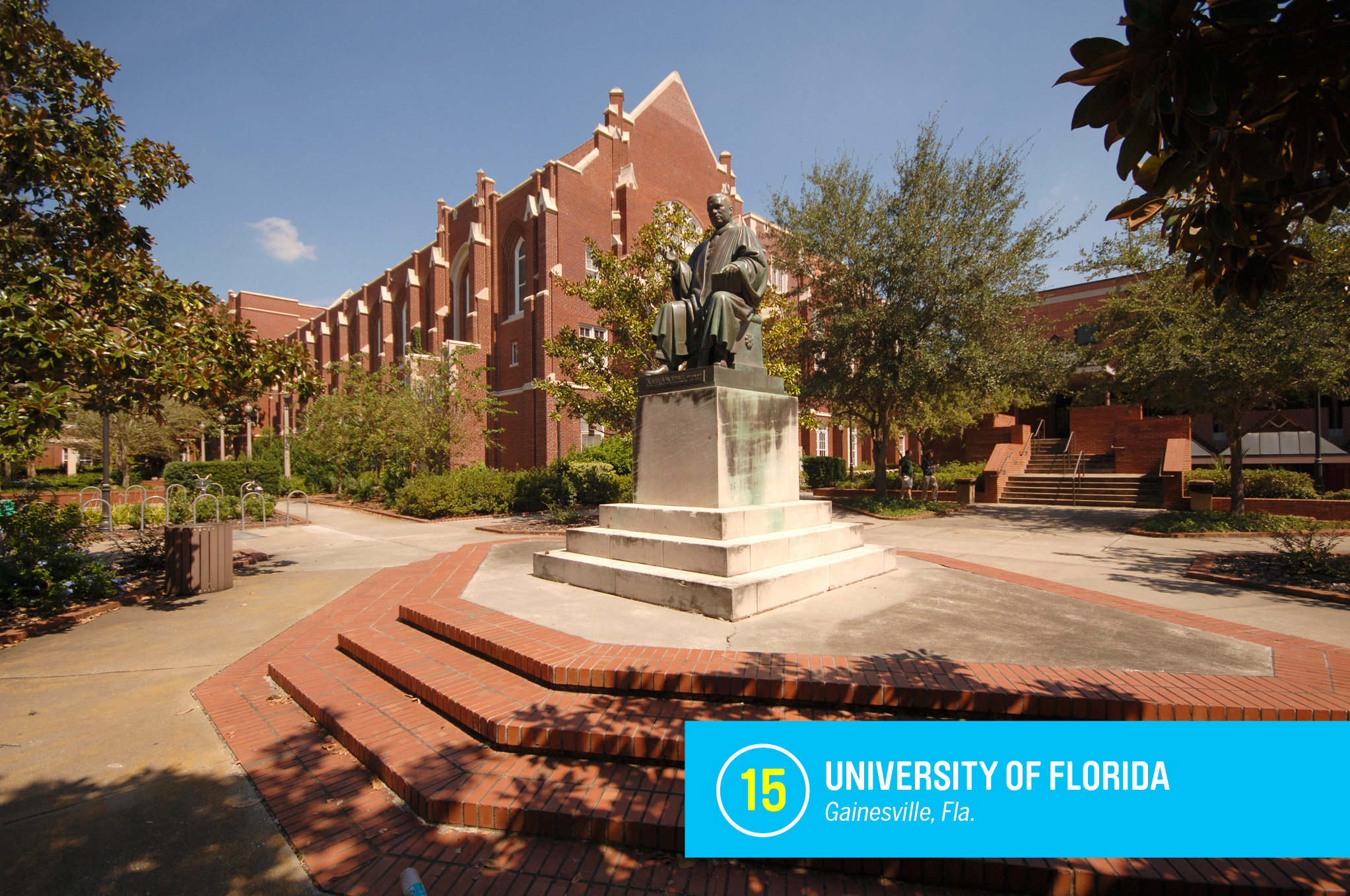 """The <a href=""""https://money.com/best-colleges/profile/university-of-florida/"""" target=""""_blank"""">University of Florida</a> is one of the biggest bargains in higher education, with tuition of just $6,300 a year for Floridians. For that low price, students get access to some of the world's top professors, well-respected programs in fields as diverse as astronomy and journalism, and sports teams that often dominate their leagues. <a href=""""https://money.com/best-colleges/profile/university-of-florida/"""" target=""""_blank"""">FULL PROFILE</a>"""