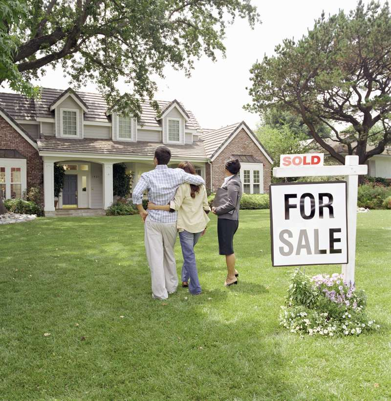 New home sales saw an eight-year high in June.