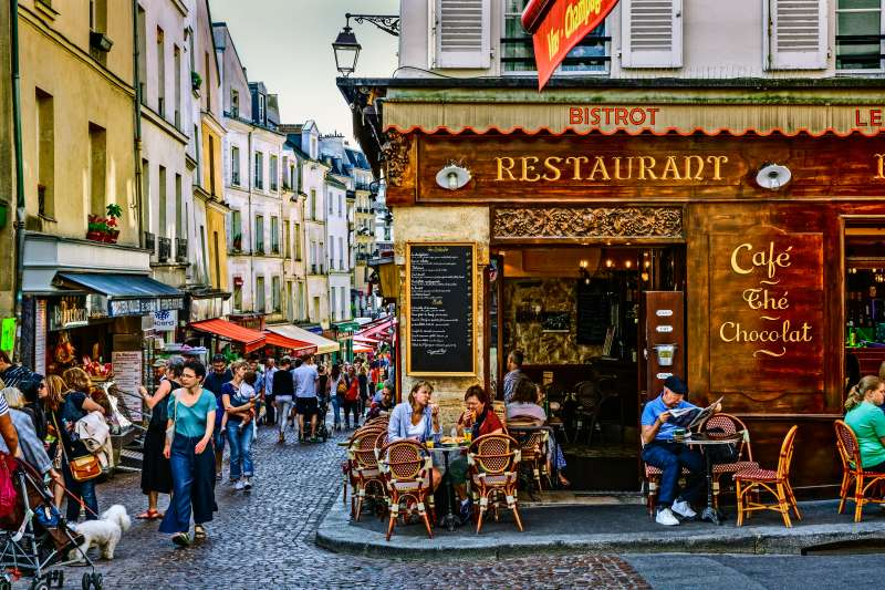 Saint Medard District in Paris, France
