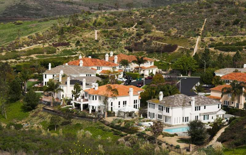 Wealthy mansions