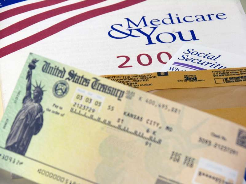 Social Security check w/ Medicare and SSI info