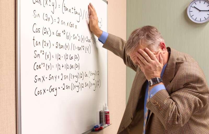 Senior maths teacher suffering emotional stress.
