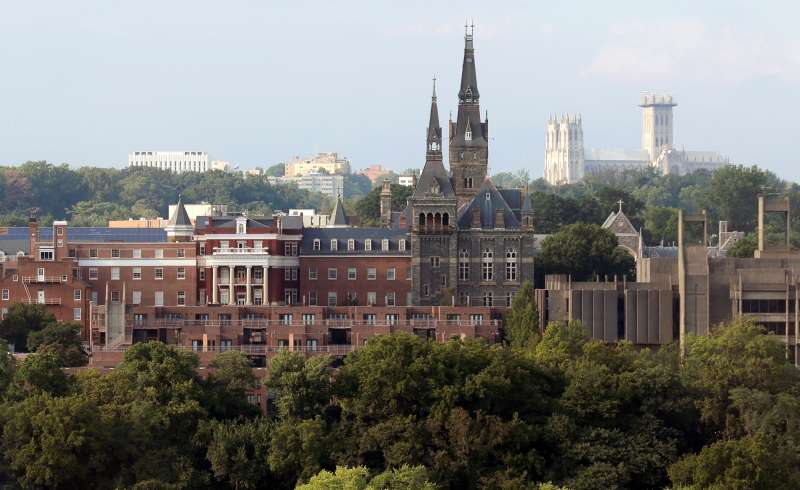 Georgetown University stands in Washington, U.S., September 1, 2016. Georgetown University President John DeGioia announced moves aimed at acknowledging and encouraging dialogue about the Jesuit-run university's ties to slavery.