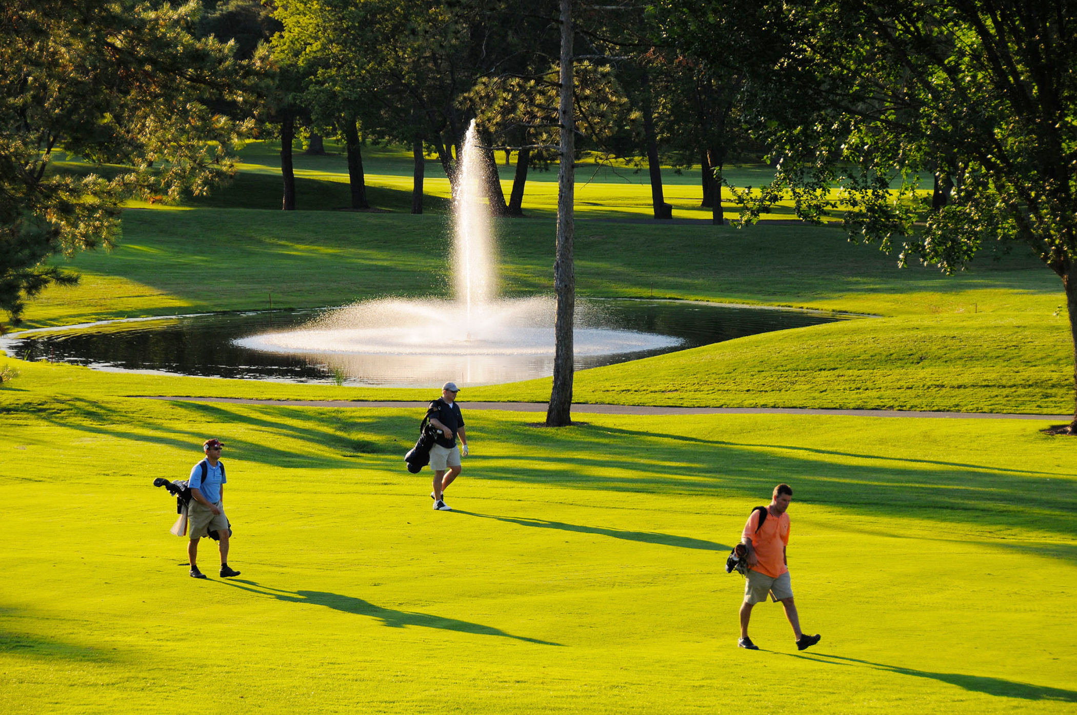 West Hartford, Connecticut. With two public golf courses, a skating rink, multiple pools, and America's oldest public rose garden, there's something for everyone here.