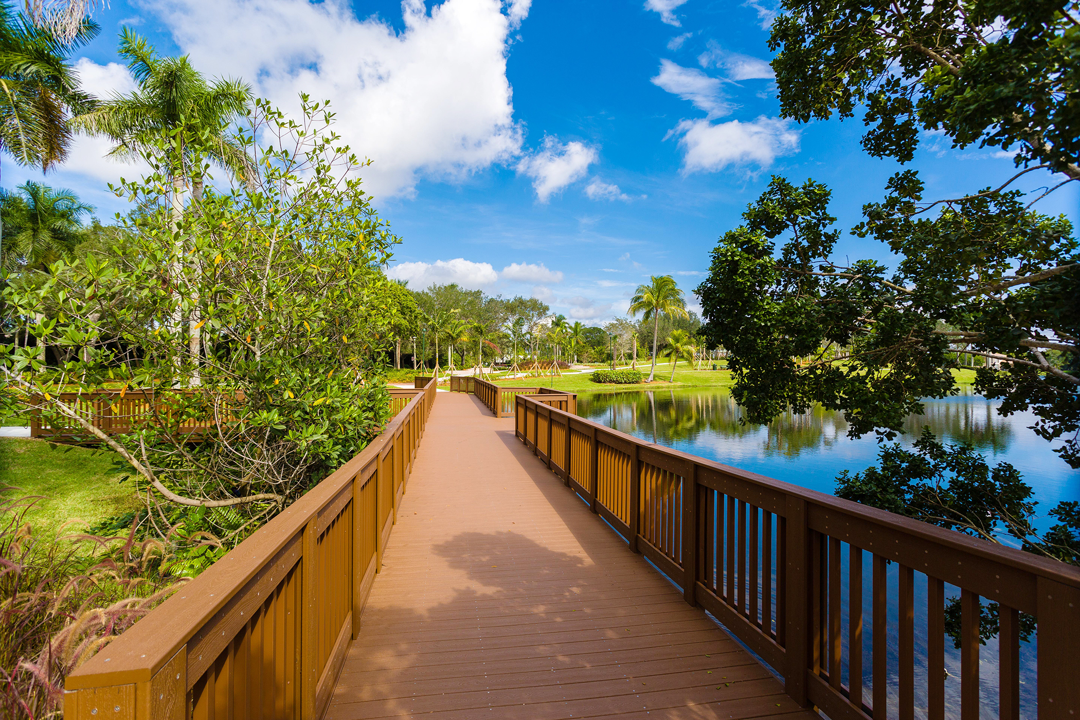 <strong>Weston, Florida. </strong>Sitting between the Atlantic Ocean to the east and the Everglades to the west, Weston has no shortage of green space, including a dozen sports fields, nearly 50 miles of lined bike lanes, and the 100-acre Weston Regional Park.