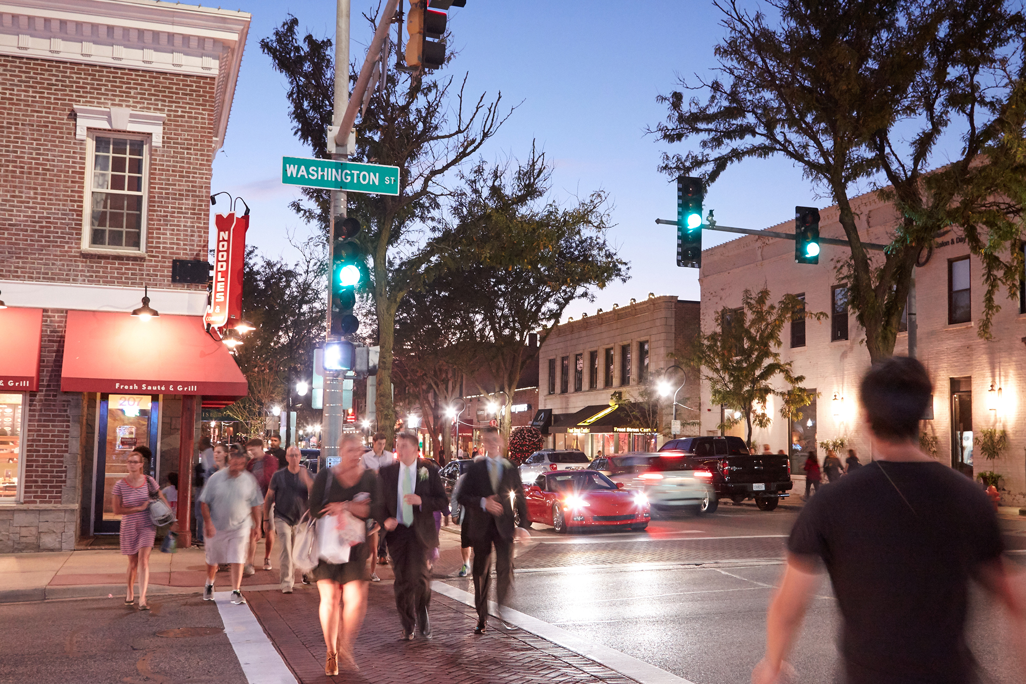 Naperville, Illinois. There's plenty to do in downtown Naperville, with more than 100 shops, 40 restaurants, and the rejuvenated, art-lined Riverwalk.
