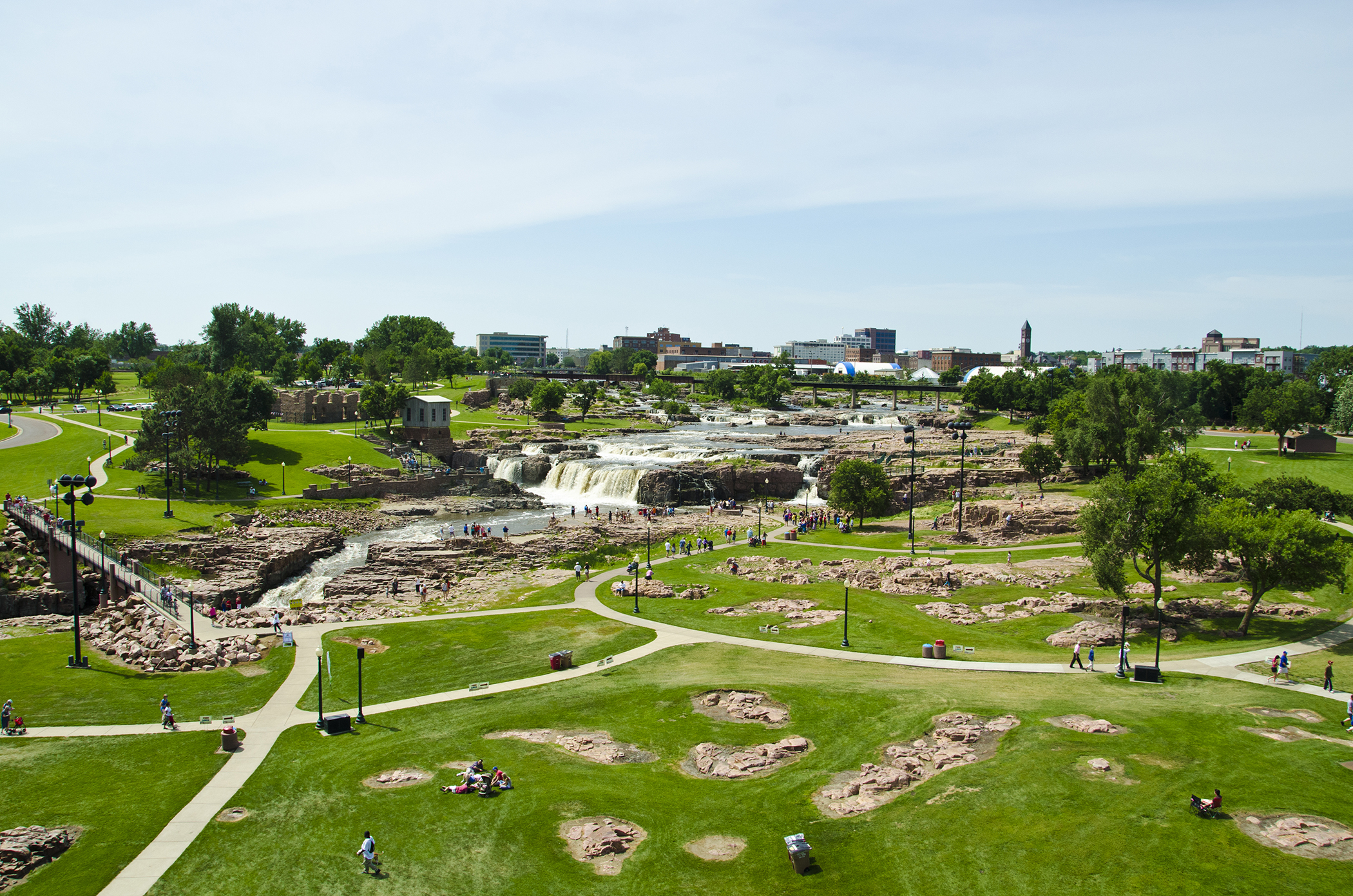 """<strong>Sioux Falls, South Dakota. </strong>The Falls get top billing, but events like the monthly """"First Friday,"""" where businesses and restaurants stay open late and organize live music, also draw bring crowds to this city on the Big Sioux river."""