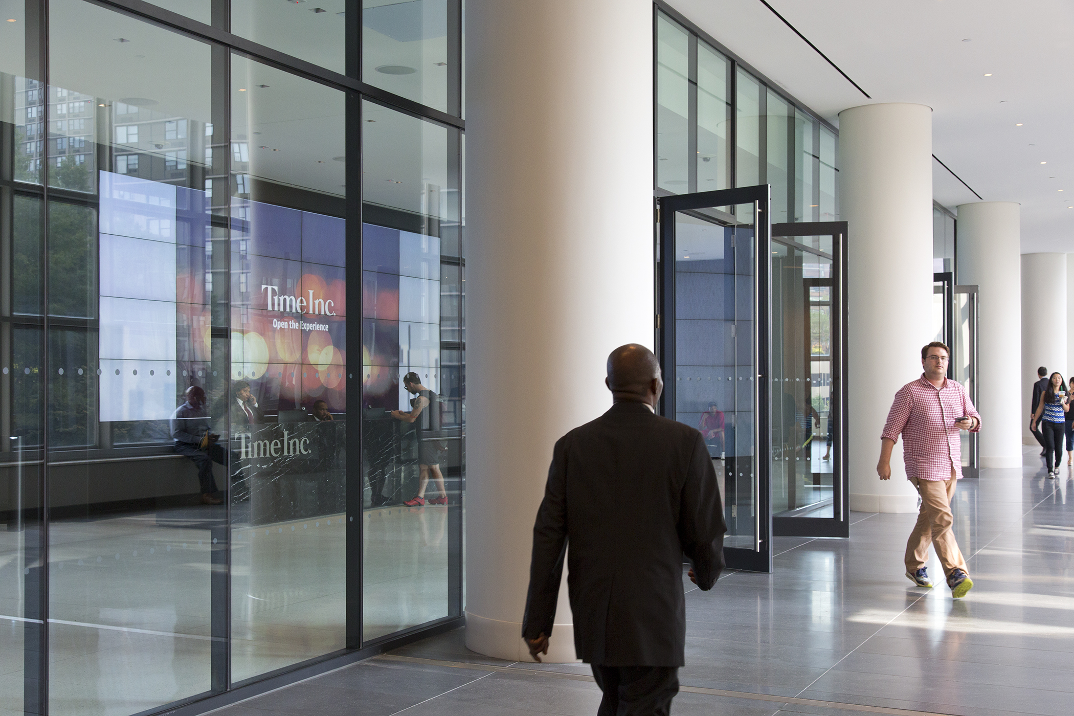 The entrance to Time Inc. inside of Brookfield Place, 225 Liberty Street.