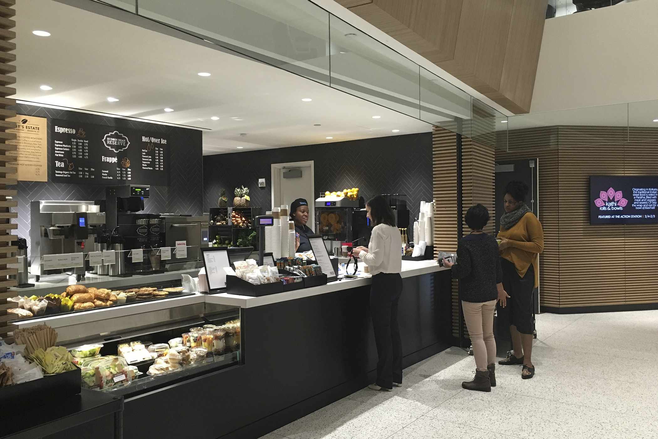Press coffee and smoothie bar inside of Time Inc.'s offices at 225 Liberty Street.