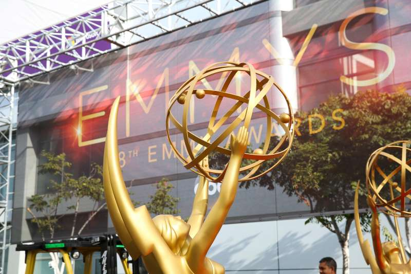 Emmy statues appear at the 2016 Primetime Emmy Awards Press Preview Day at the Microsoft Theater on Wednesday, Sept. 14, 2016, in Los Angeles.