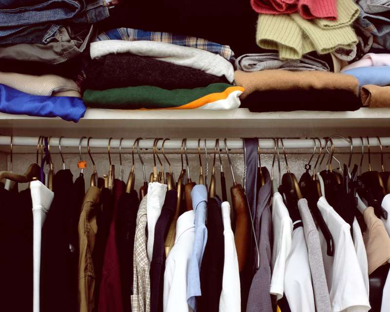 closet of clothes