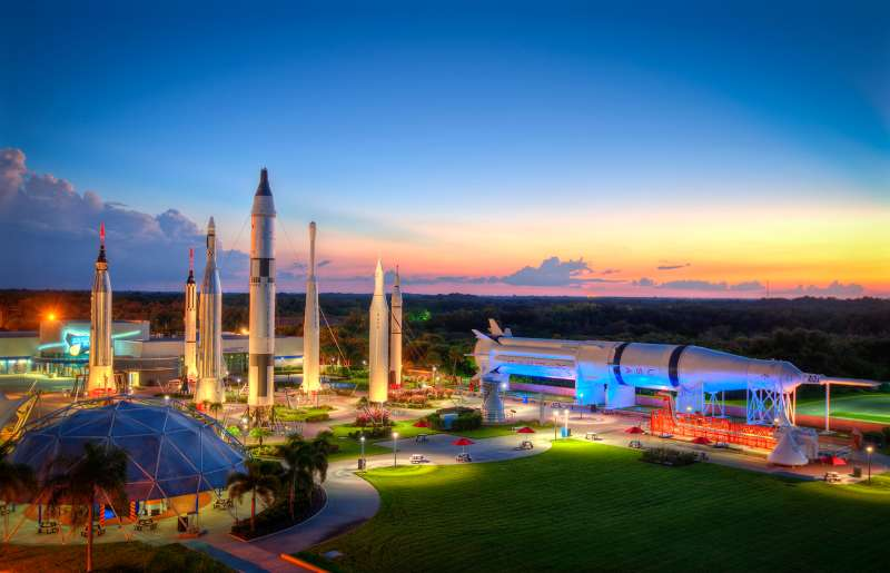 America's history in space is laid out before your very eyes in the majestic Rocket Garden.