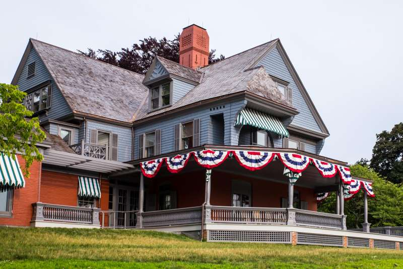 F49KAM View of Sagamore Hill, home of US President Theodore Roosevelt